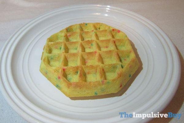Kellogg s Birthday Cake Waffles Closeup