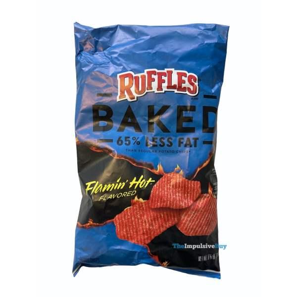 Ruffles Baked Flamin Hot Potato Crisps Bag