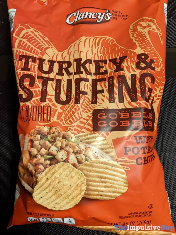 Clancy s Turkey  Stuffing Wavy Potato Chips