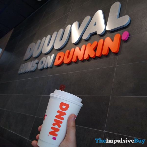 Dunkin Chai Oatmilk Latte Sign