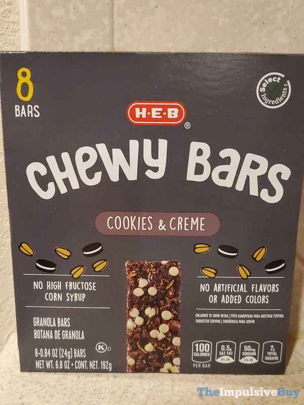 H E B Chewy Bars Cookies  Creme