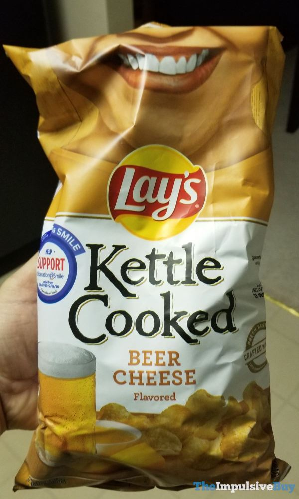 Lay s Kettle Cooked Beer Cheese Potato Chips