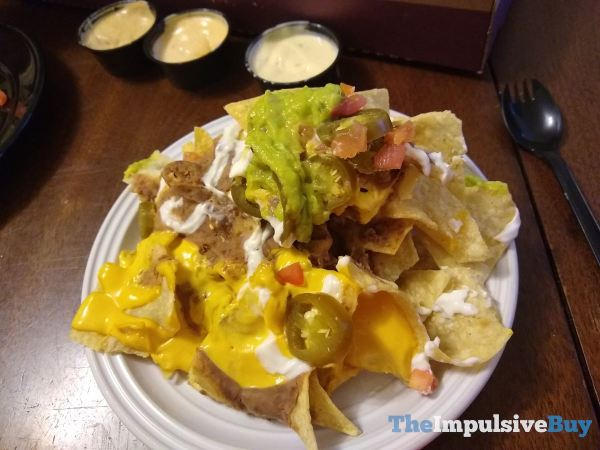 Taco Bell Veggie Nachos Party Pack Plated