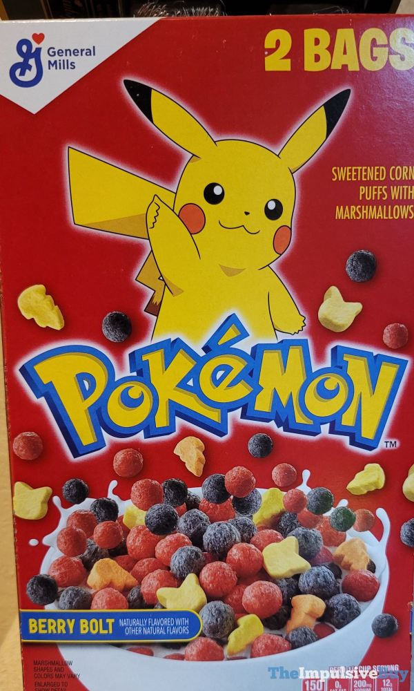 General Mills Pokemon Berry Bolt Cereal
