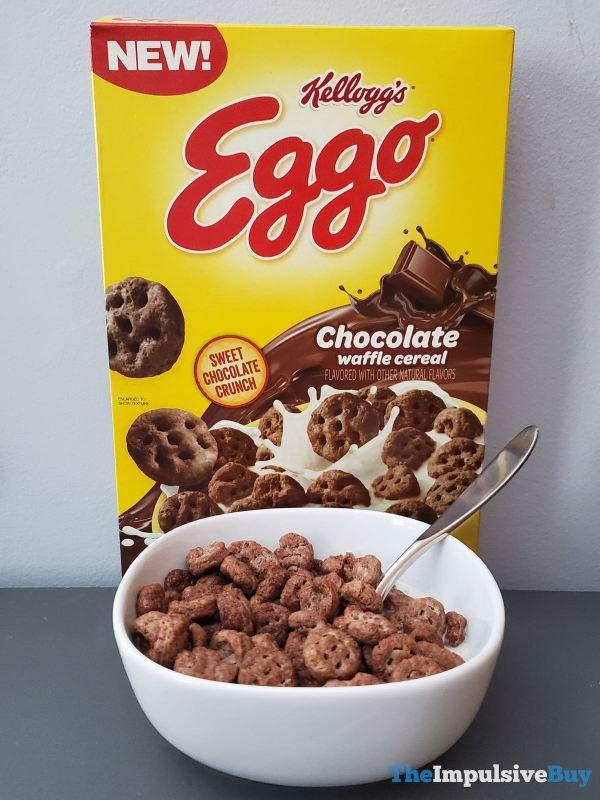 Kellogg s Eggo Chocolate Waffle Cereal Box Bowl