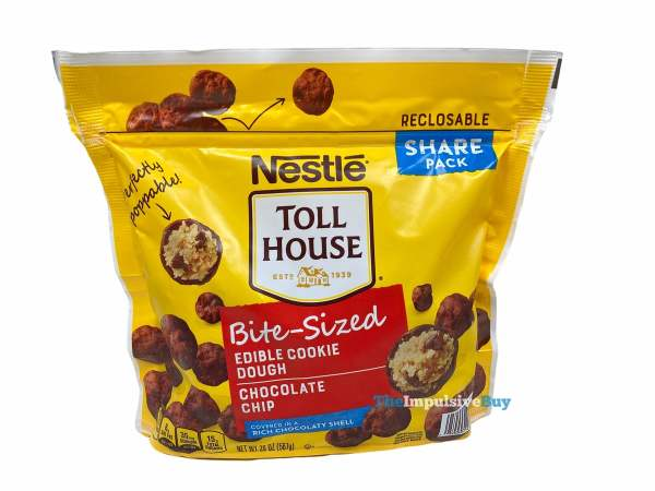 Nestle Toll House Chocolate Chip Bite Sized Edible Cookie Dough Pouch