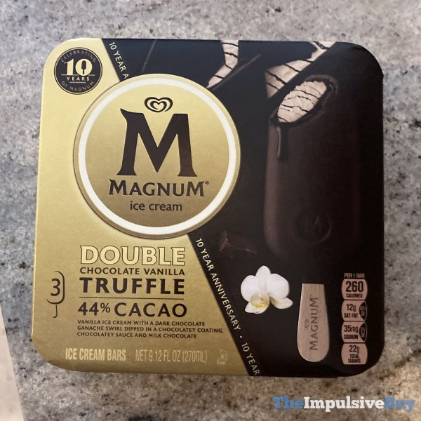 Magnum Ice Cream Double Chocolate Vanilla Truffle Bars