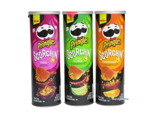 Pringles Scorchin Potato Crisps Cans