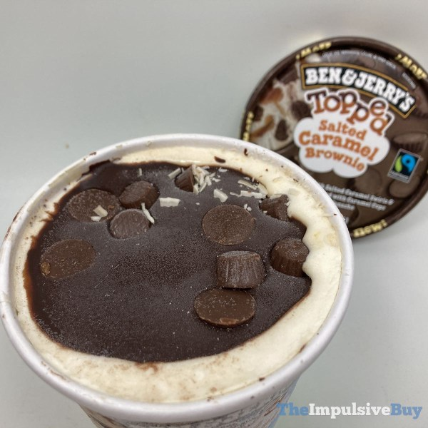 Ben  Jerry s Topped Ice Cream Salted Caramel Brownie Top