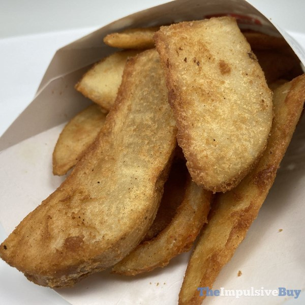 Jack in the Box Potato Wedges Closeup