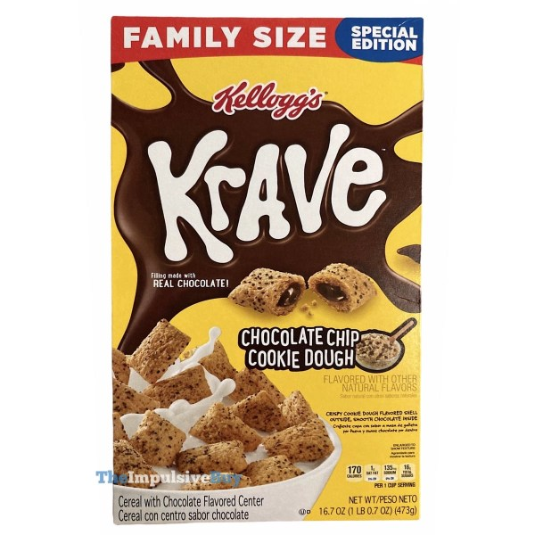 Kellogg s Special Edition Krave Chocolate Chip Cookie Dough Cereal Box
