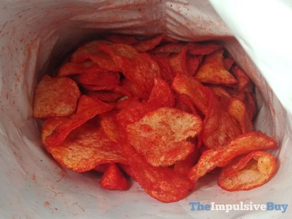 Lay s Kettle Cooked Flamin Hot Limon Potato Chips Inside Bag