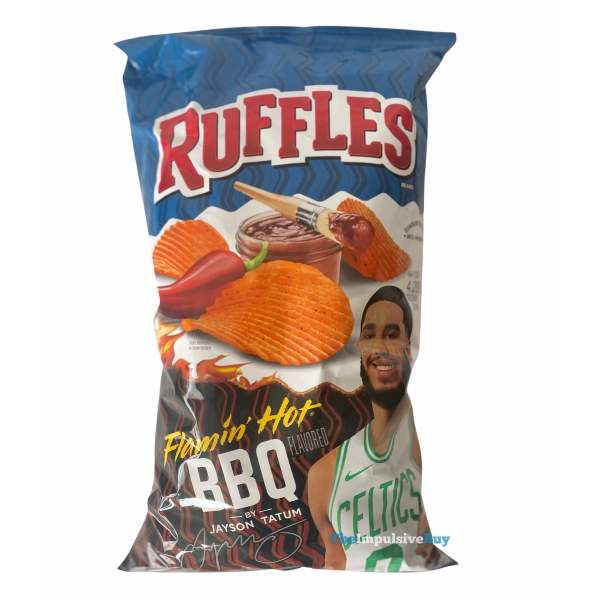 Ruffles Flamin Hot BBQ Potato Chips Bag