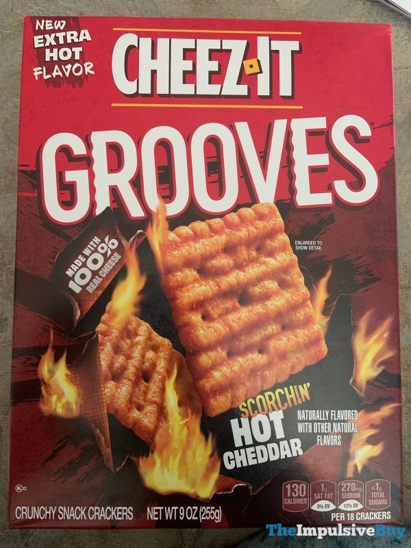 Cheez It Grooves Scorchin Hot Cheddar
