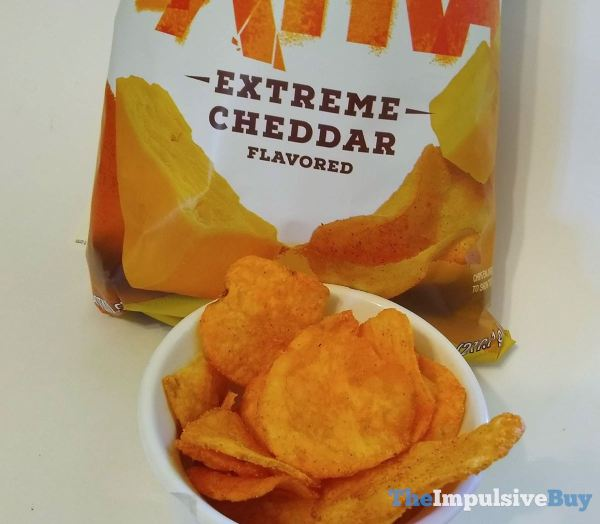 Lay s Kettle Cooked Extra Potato Chips Extreme Cheddar