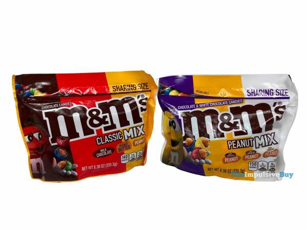 M M s Classic Mix and Peanut Mix Pouches