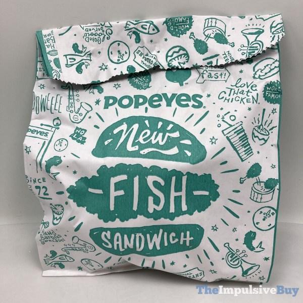 Popeyes Cajun Flounder Fish Sandwich Pouch