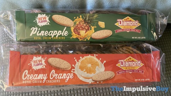Diamond Bakery Pineapple and Creamy Orange Royal Creem Crackers