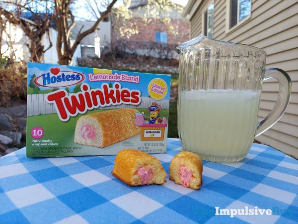 Hostess Limited Edition Lemonade Stand Twinkies with Lemonade