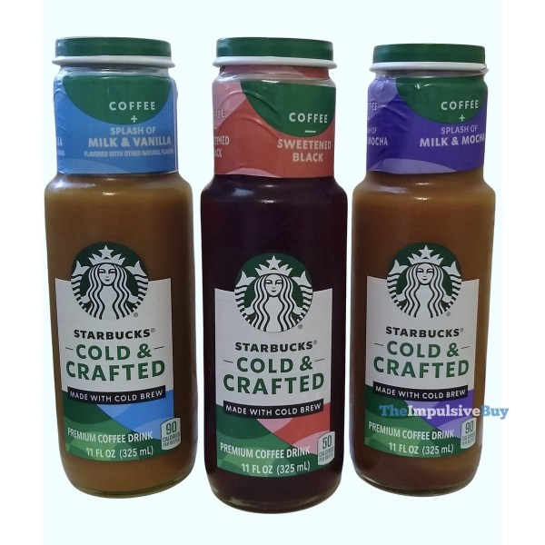 Starbucks Cold  Crafted Coffee Drinks Bottles