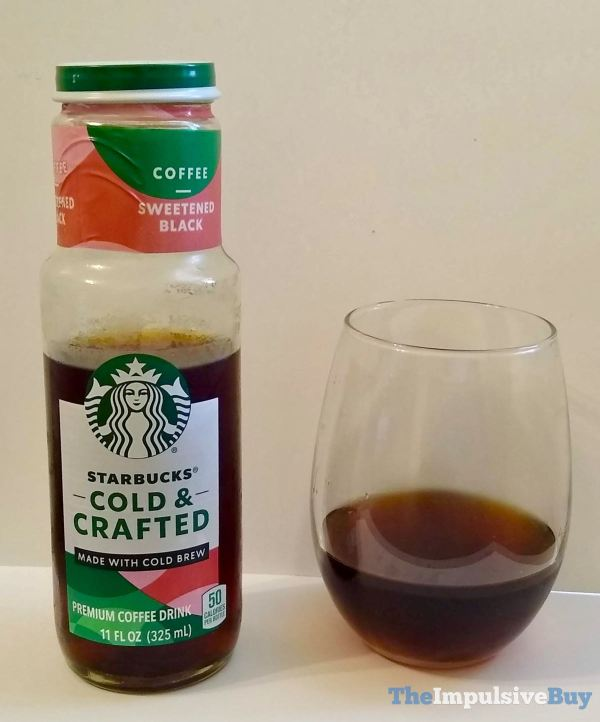 Starbucks Cold  Crafted Coffee Drinks Black