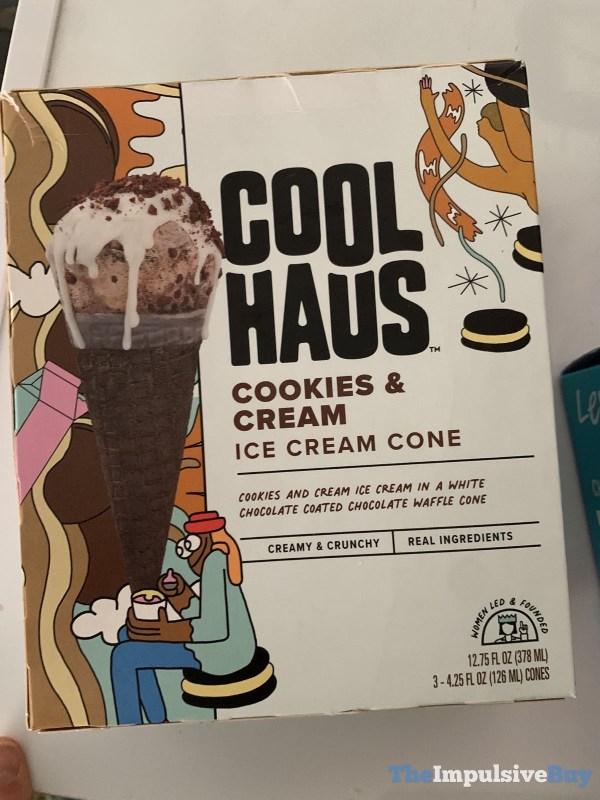 Coolhaus Cookies  Cream Ice Cream Cones