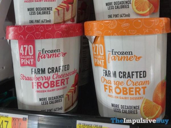 The Frozen Farmer Frobert  Strawberry Cheesecake and Orange Cream