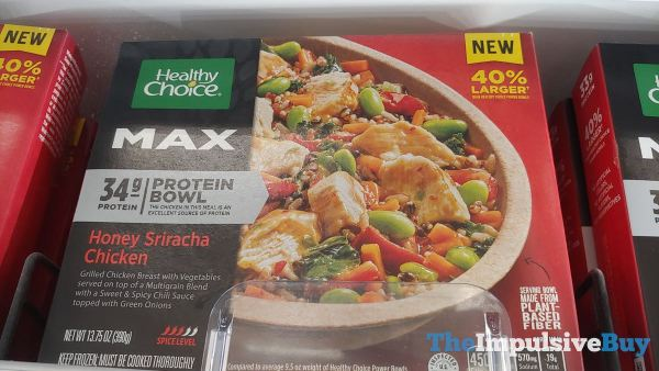 Healthy Choice Max Honey Sriracha Chicken