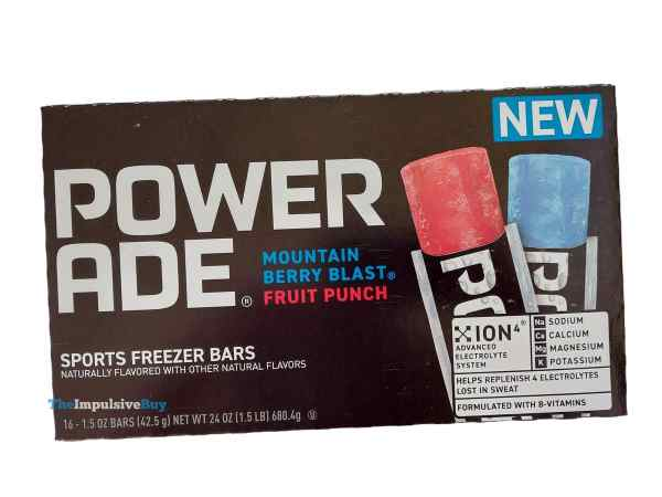 Powerade Sports Freezer Bars Box