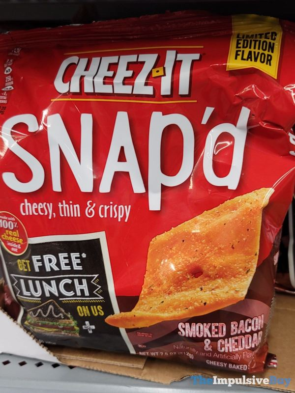 Cheez It Snap d Limited Edition Flavor Smoked Bacon  Cheddar