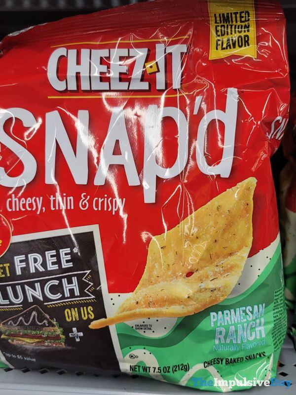 Cheez It Snap d Limited Edition Flavor Parmesan Ranch