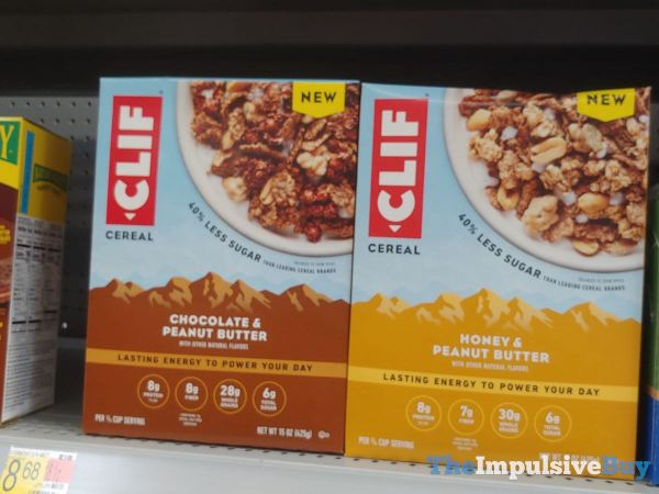 Clif Cereal  Chocolate  Peanut Butter and Honey  Peanut Butter