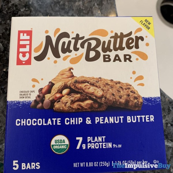 Clif Chocolate Chip  Peanut Butter Nut Butter Bars