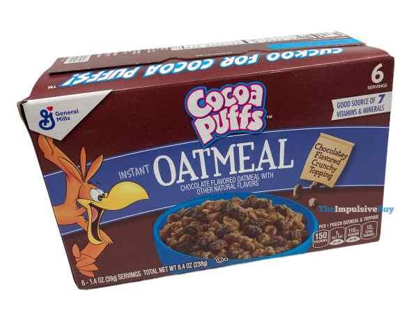 Cocoa Puffs Oatmeal Box