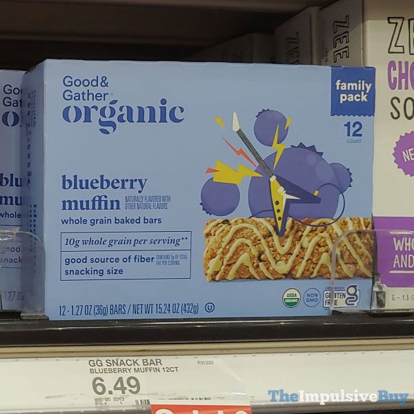 Good  Gather Organic Blueberry Muffin Whole Grain Baked Bars