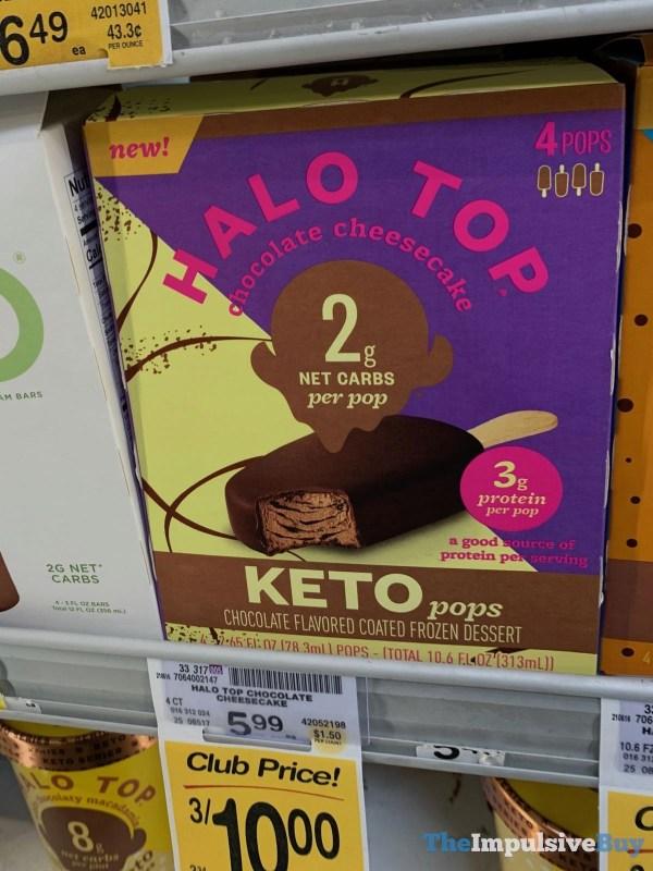 Halo Top Keto Pops Chocolate Cheesecake