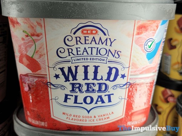 H E B Creamy Creations Limited Edition Wild Red Float Ice Cream