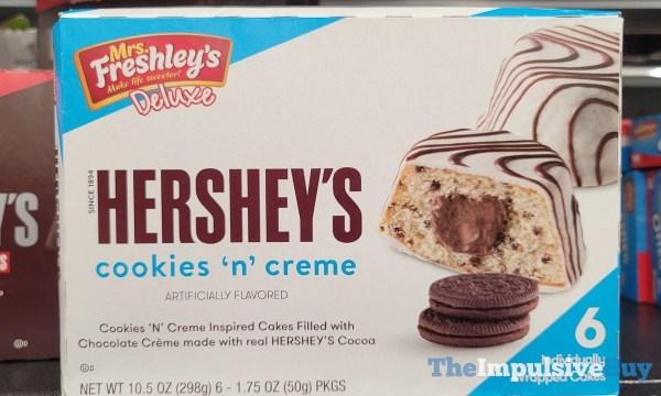Mrs Freshley s Deluxe Hershey s Cookies  n Creme Cakes