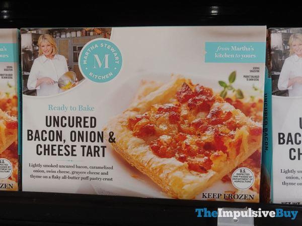 Martha Stewart Kitchen Uncured Bacon Onion  Cheese Tart