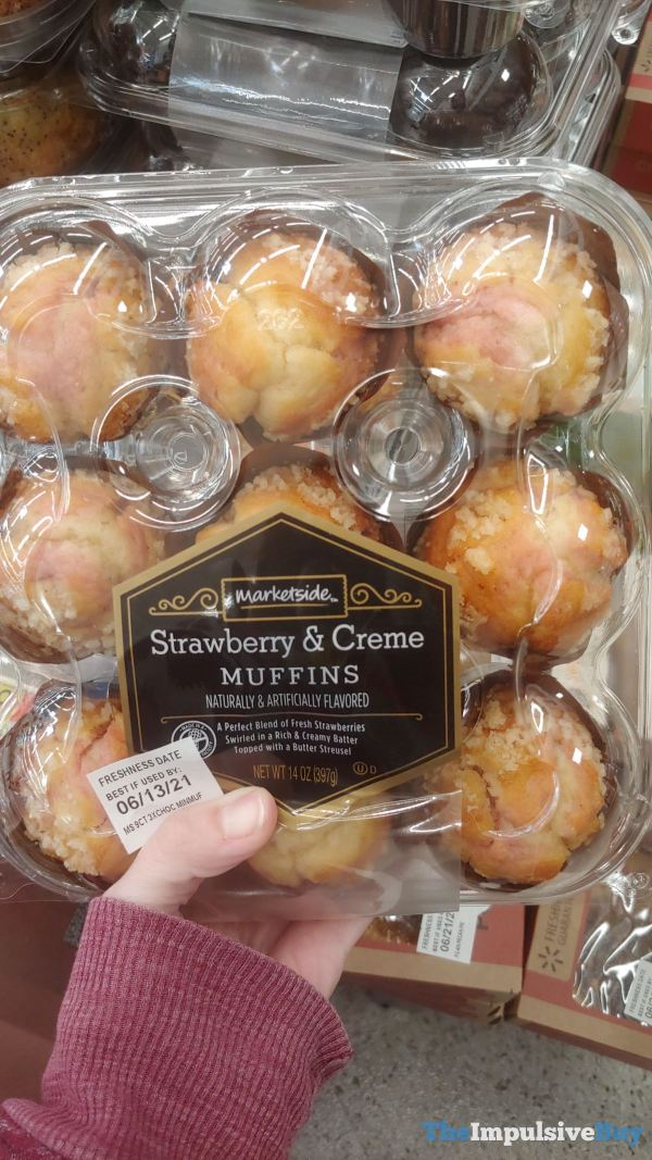 Marketside Strawberry  Creme Muffins