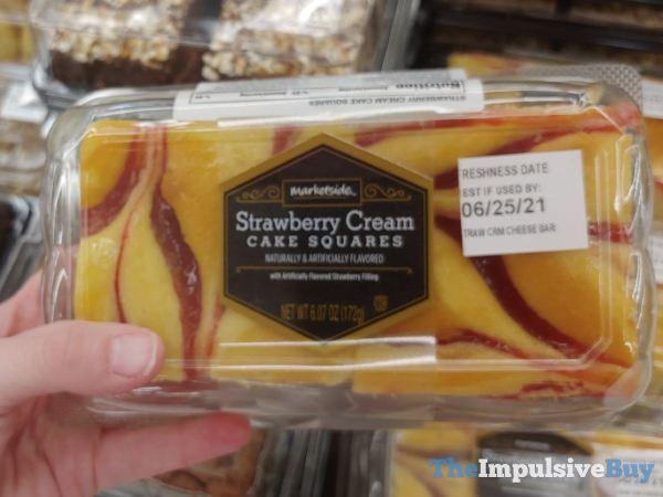 Marketside Strawberry Cream Cake Squares