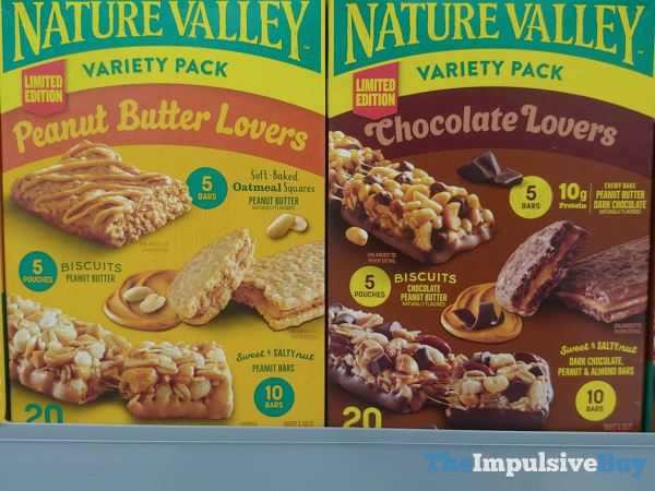 Nature Valley Limited Edition Peanut Butter Lovers and Chocolate Lovers Variety Packs