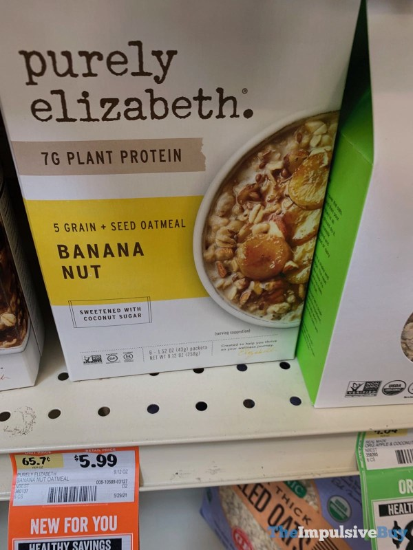 Purely Elizabeth Banana Nut 5 Grain + Seed Oatmeal