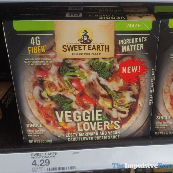 Sweet Earth Veggie Lover s Single Serve PIzza
