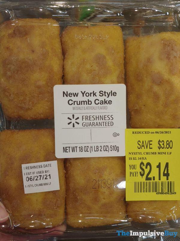 Walmart New York Style Crumb Cake