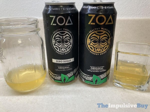 Zoa Energy Drink Glasses