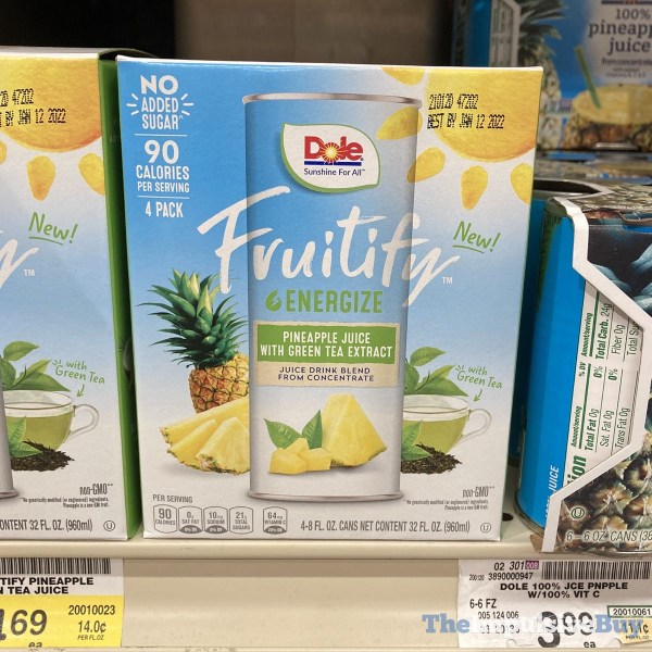 Dole Fruitify Energize Pineapple Juice with Green Tea Extract