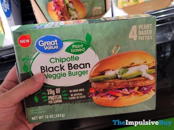 Great Value Plant Based Chipotle Black Bean Veggie Burger