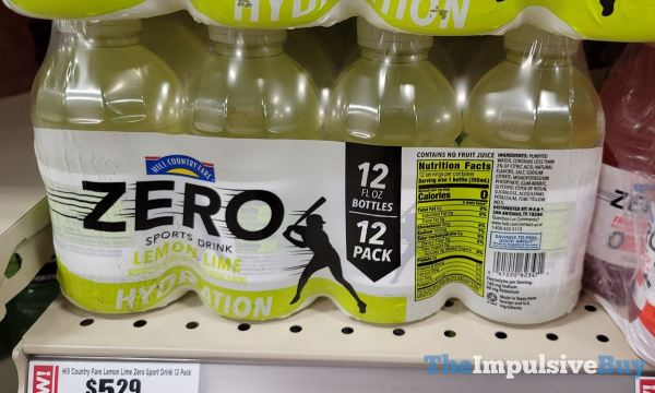 Hill Country Fare Zero Lemon Lime Sports Drink 12 pack