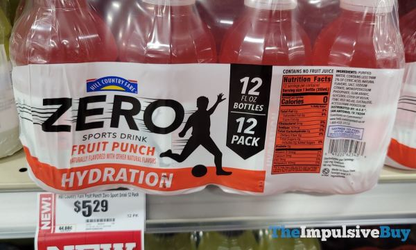 Hill Country Fare Zero Fruit Punch Sports Drink 12 pack